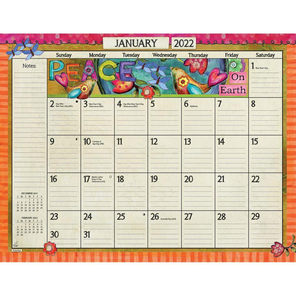 Color My World 2022 Desk Pad Calendar