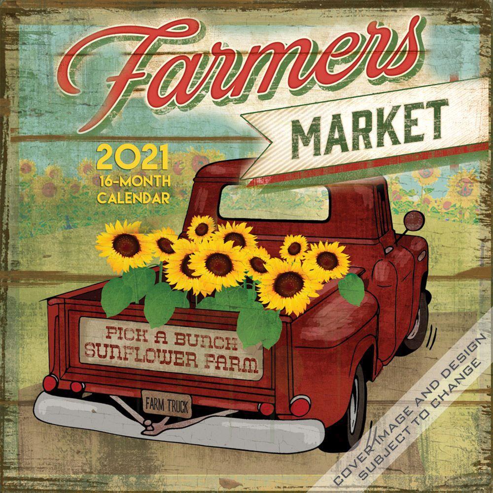 Farmers Market Wall Calendar Calendars Com