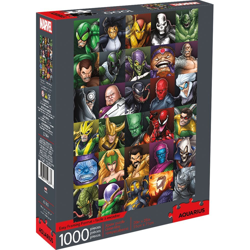 Best Marvel Villains Collage 1000pc Puzzle You Can Buy