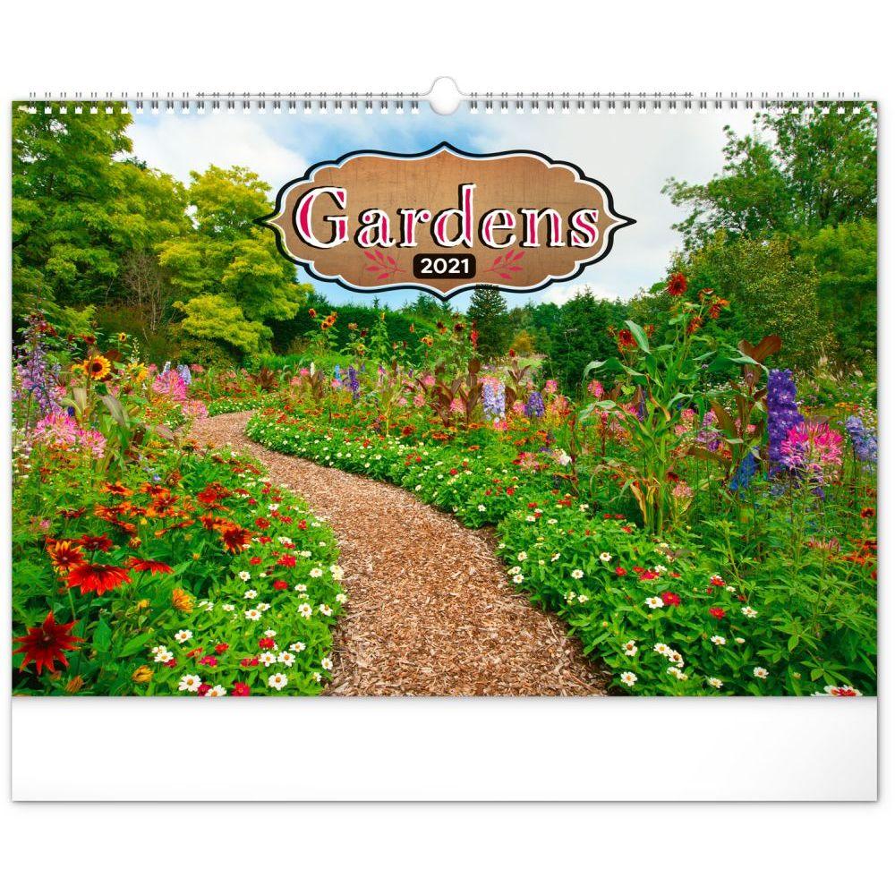 2021 Gardens Poster Wall Calendar