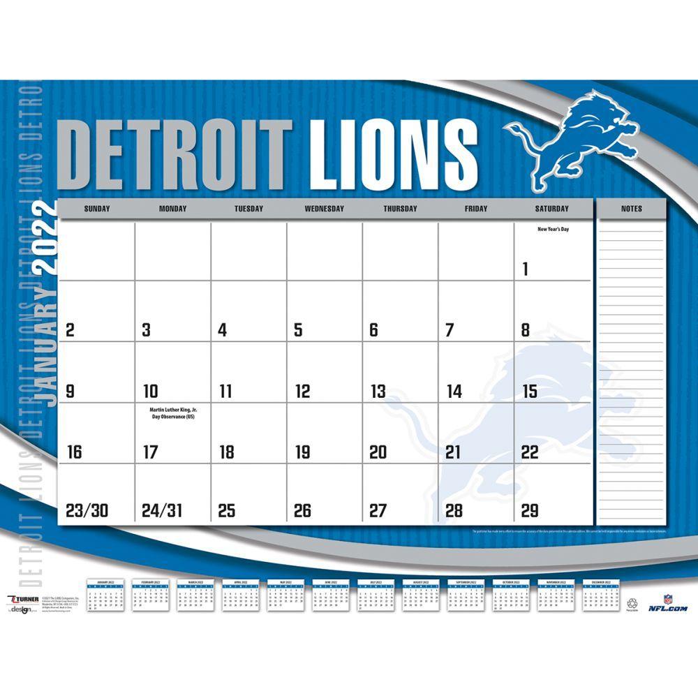 Detroit Lions 2022 Desk Pad