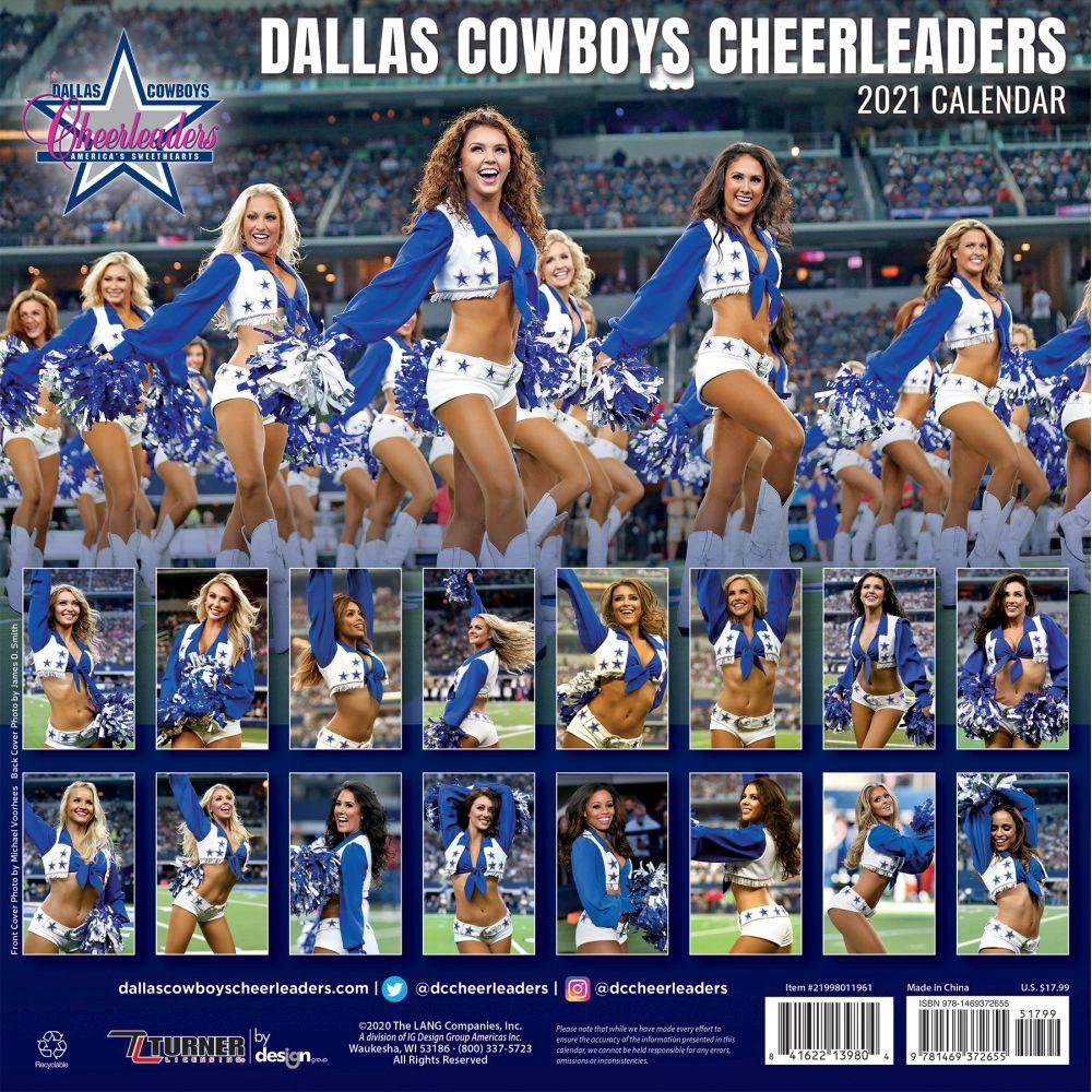 Dcc Calendar 2021 Dallas Cowboys Cheerleaders Wall Calendar   Calendars.com