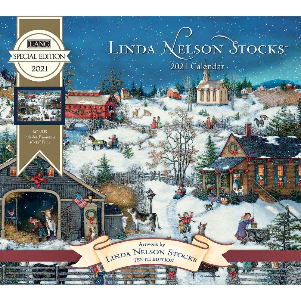 Linda Nelson Stocks 2021 Wall Calendar
