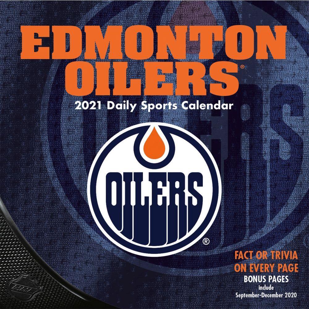 2021 NHL Edmonton Oilers Desk Calendar