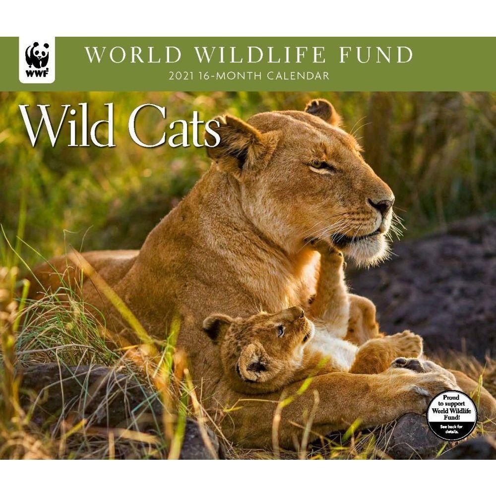 Wild Cats WWF 2021 Wall Calendar