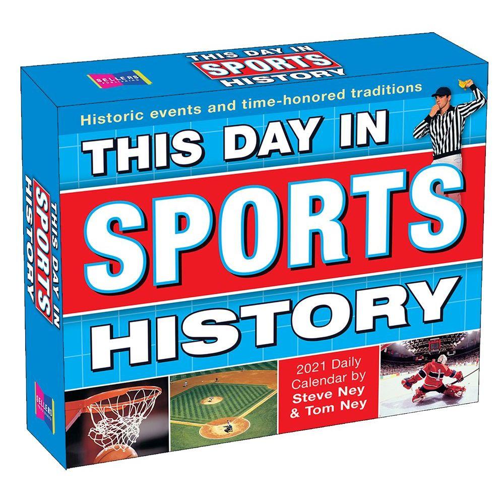 Sports History 2021 Desk Calendar