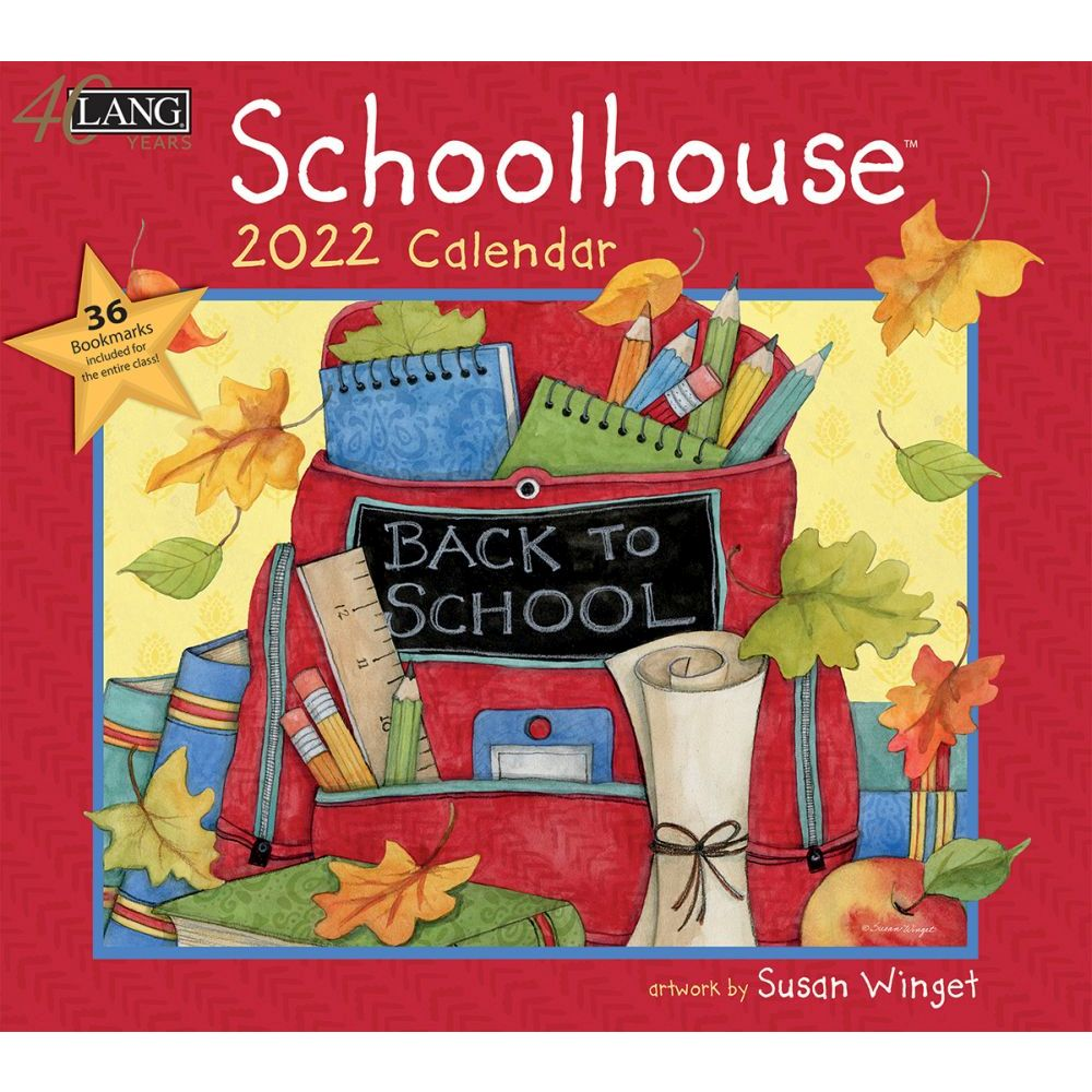 Susan Winget Schoolhouse 2022 Wall Calendar