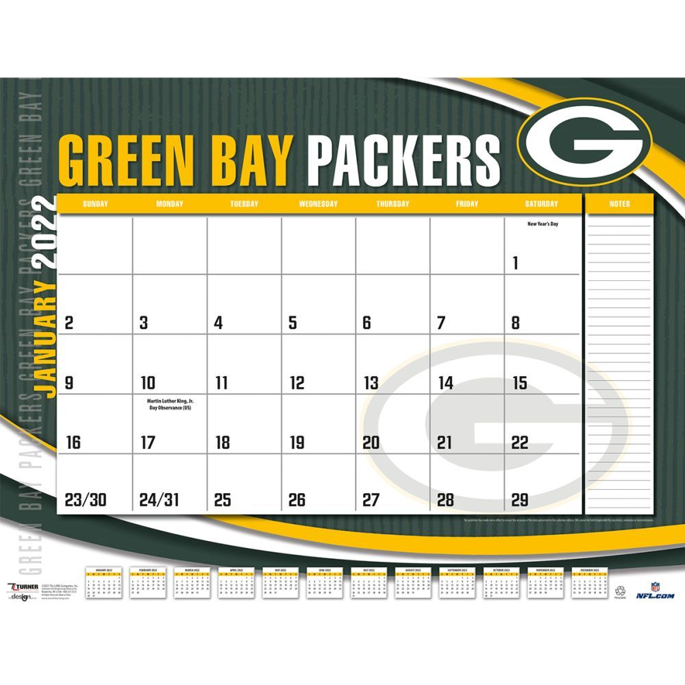 Green Bay Packers 2022 Desk Pad