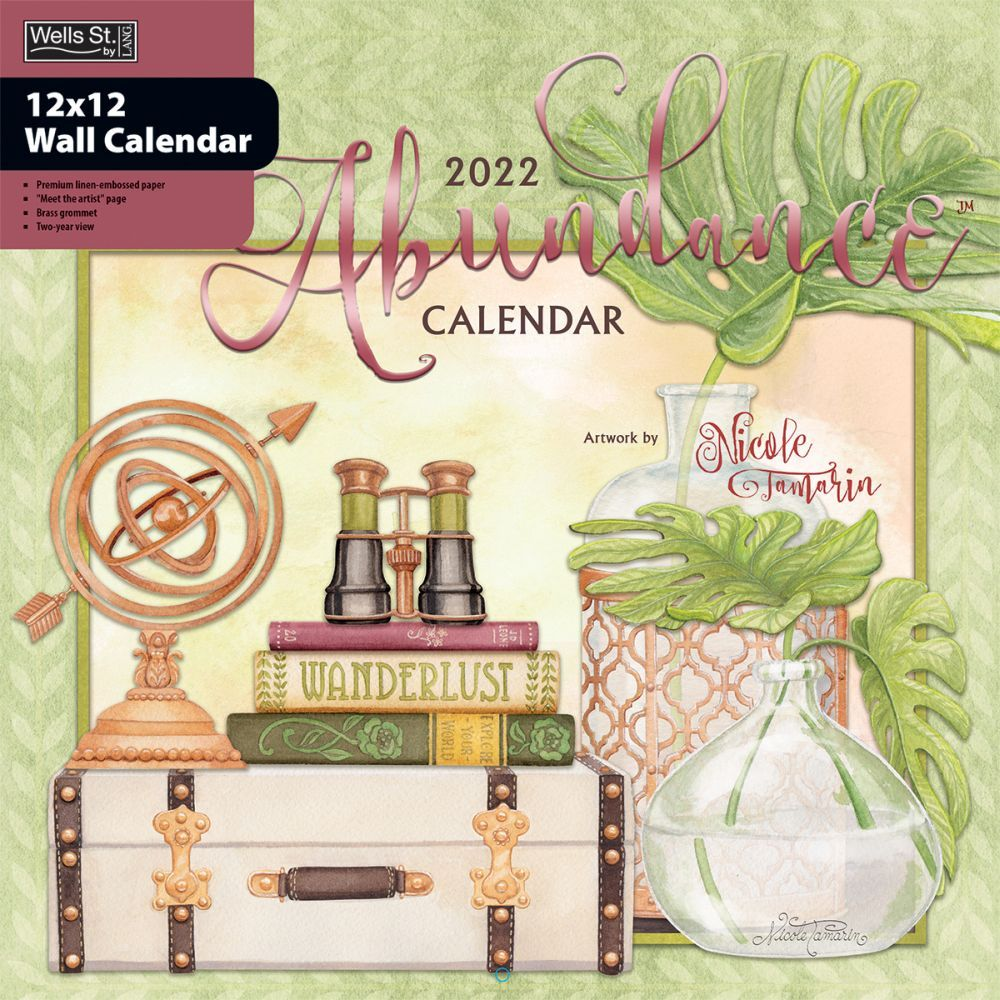 Abundance 2022 Wall Calendar