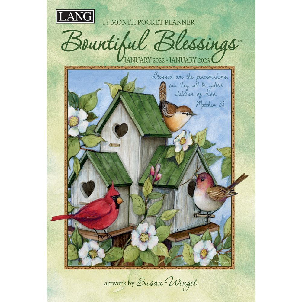 Bountiful Blessings 2022 Monthly Pocket Planner