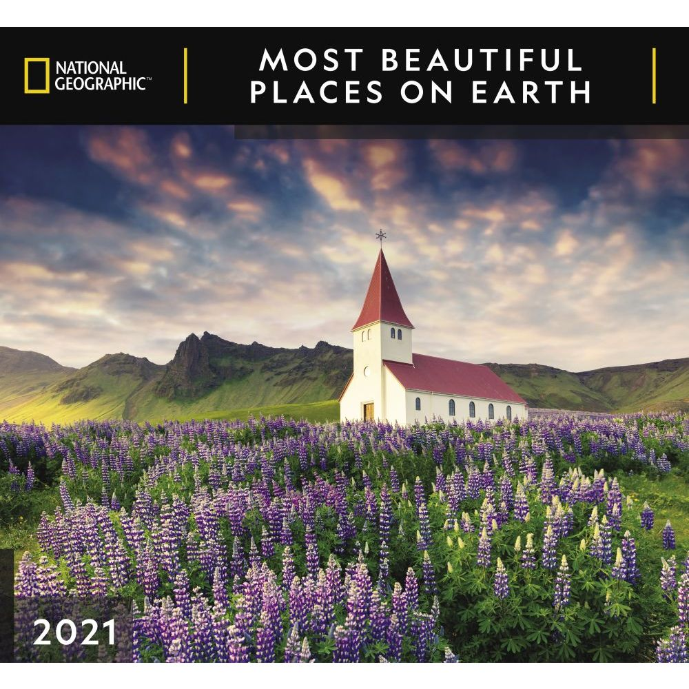 2021 Most Beautiful Places on Earth Wall Calendar