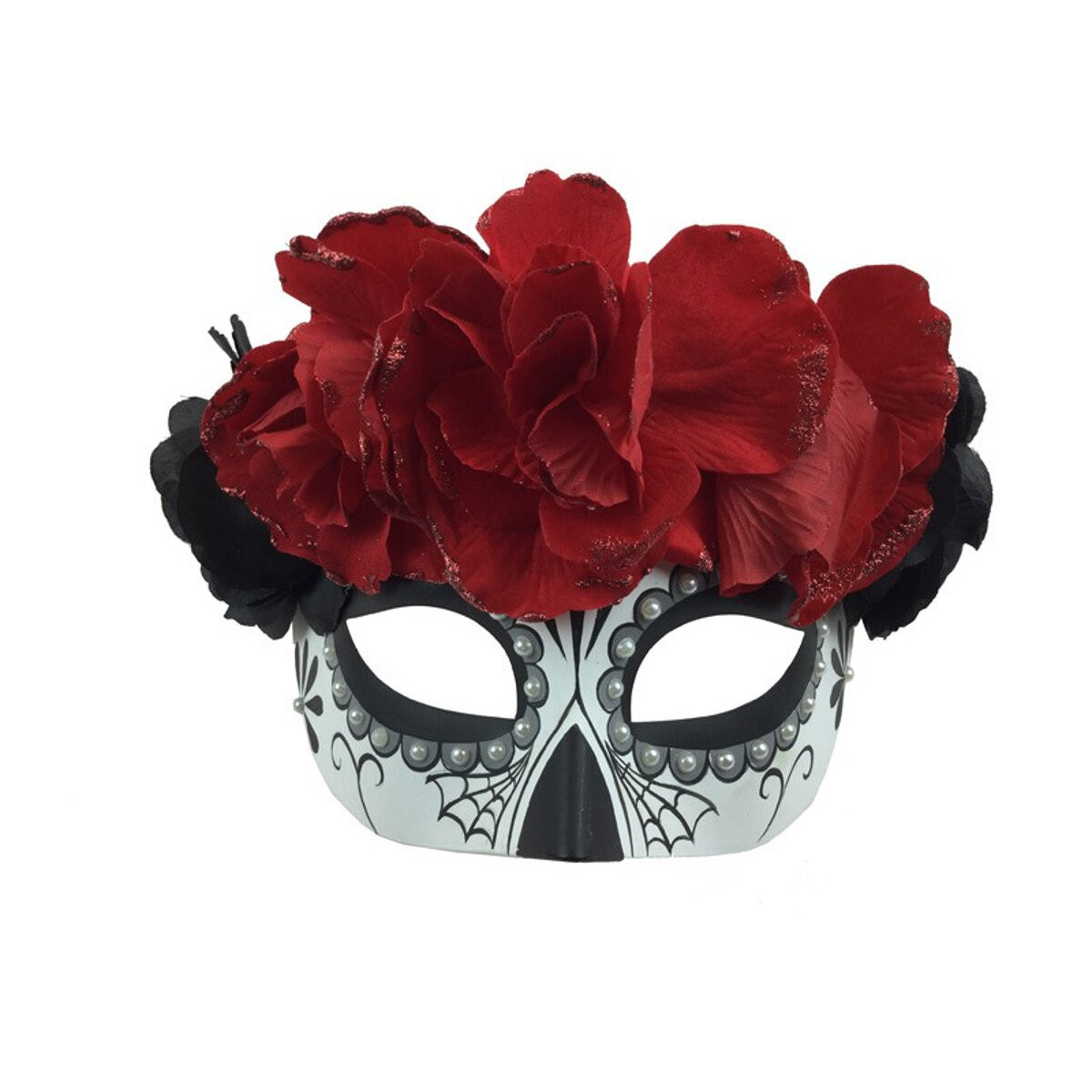 Sugar-Skull-Mask-With-Flowers-Main-Image
