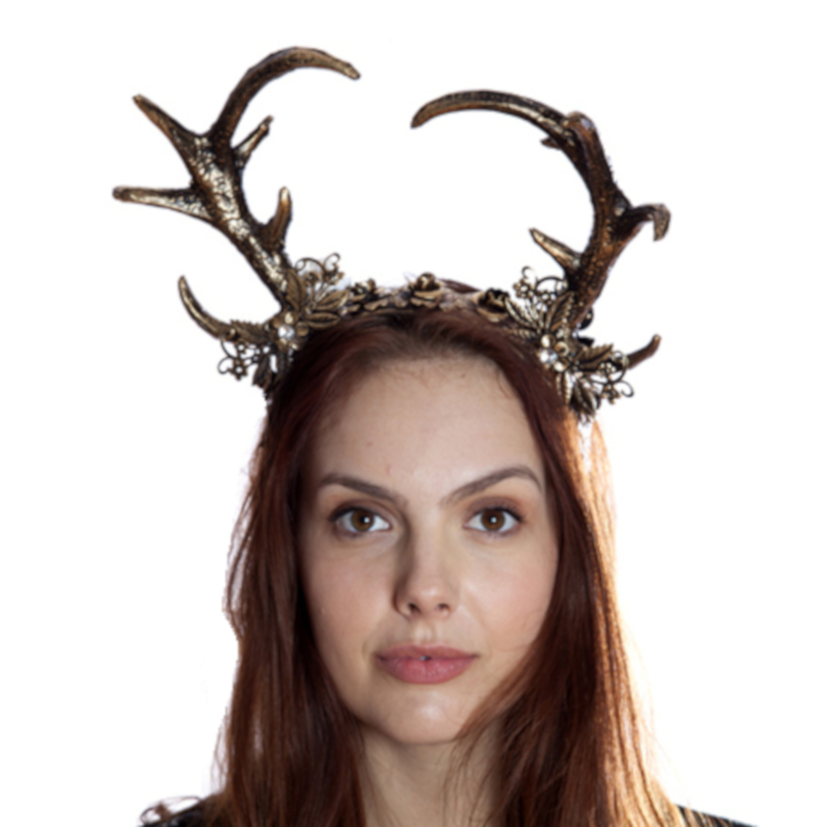 Floral-Deer-Headband-Gold-Main-Image