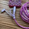 image 3 in 1 Long USB Cable Cord Pink/Purple