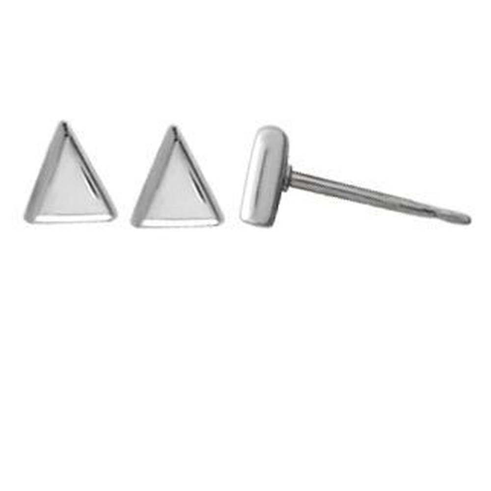 image Sterling-Silver-Triangle-Stud-Earrings-Main-Image