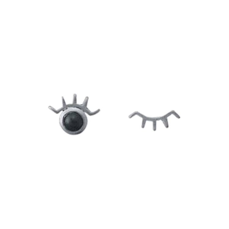 image Sterling Silver Winking Eye Stud Earrings