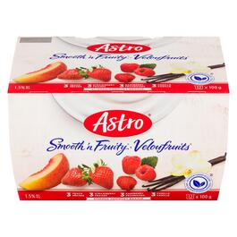 Astro Smooth 'n Fruity Stirred Yogourt 1.5% M.F. 12pk. - 1.2kg