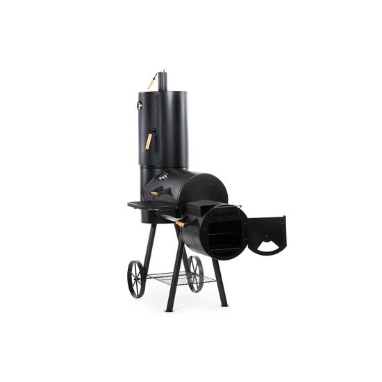 Serenity Bay Black Vertical Outdoor Large Charcoal Smoker