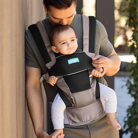 Moby Move 4 Position Carrier - Charcoal Grey