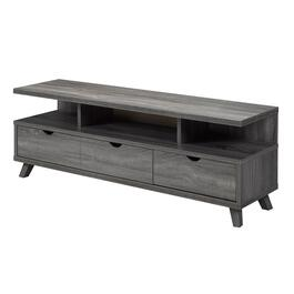 Brassex Grey TV Stand with Storage - 60in.