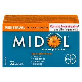 Midol Extra Strength Menstrual Complete Caplets - 32pk.