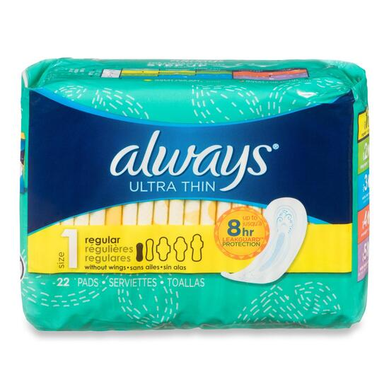 Always Ultra Thin Light Regular Pads - 22pk.