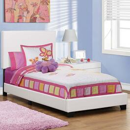 Monarch Specialties Inc. White Bed Frame - Twin