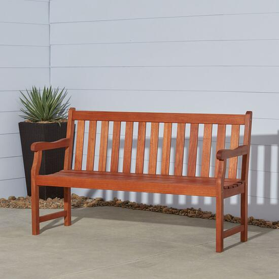 Vifah Malibu Outdoor Patio Garden Bench