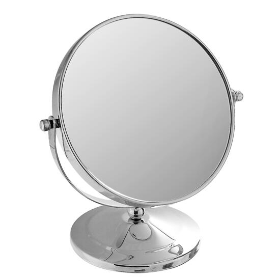 Chrome Plated Swing Mirror on Round Base