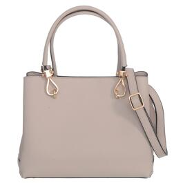 Nicci Nude Structured Triple Entry Double Handle Satchel