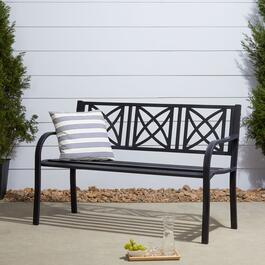 Vifah Paracelsus Black Garden Bench - 50in.