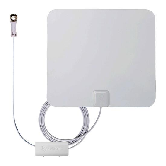 ANTOP Paper Thin Smartpass Amplified Indoor HDTV Antenna - 80.5 km