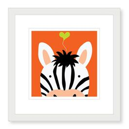 Peek-a-Boo Zebra Framed Print - 19in.