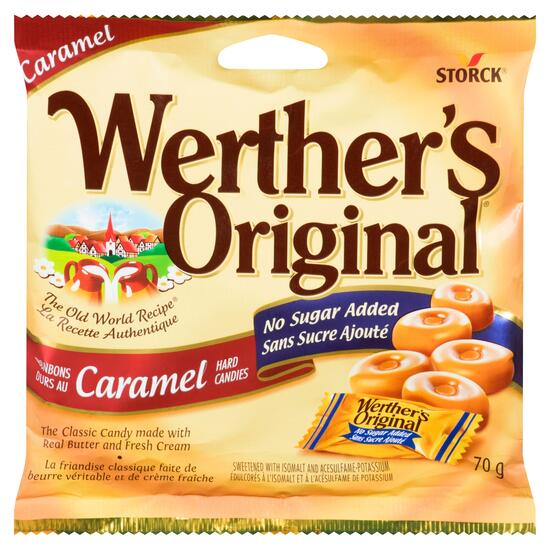 Werther's Original Caramel Hard Candies - 70g