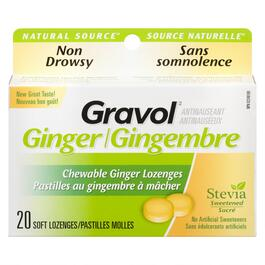 Gravol Chewable Ginger Lozenges Non-Drowsy - 20pk.