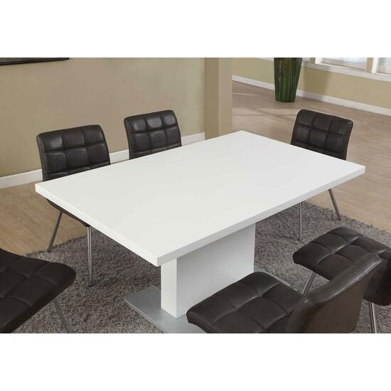 Monarch Specialties High Gloss Dining Table