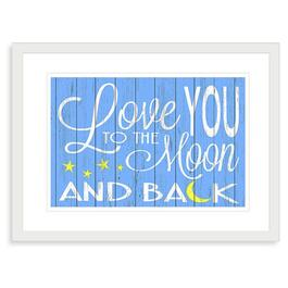 Love You to the Moon Framed Print - 19in.