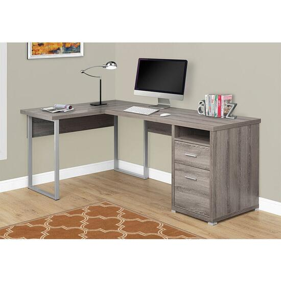 Monarch Specialties Dark Taupe Computer Desk - 80in.