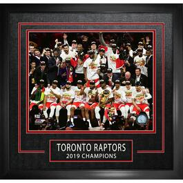 Toronto Raptors Etched 2019 Championship Framed Photo - 16in. x 20in.