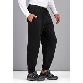 Mountain Ridge Men's Black Fleece Pants with Hemmed Ankle - S-XL