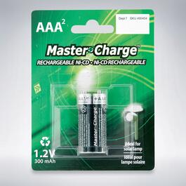 Master Charge Rechargeable NI-CD AAA2 Batteries - 2pk.
