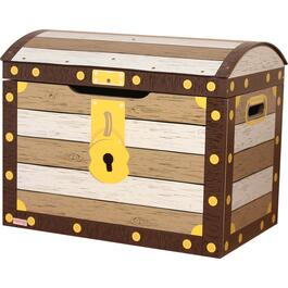 Pirate Toy Box with Safety Hinges