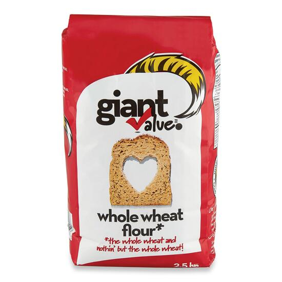 Giant Value Whole Wheat Flour - 2.5kg