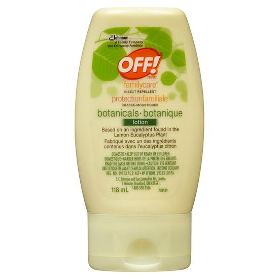 Off! Family Care Botanicals Insect Repellent Lotion - 118ml