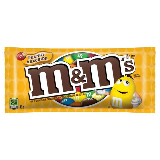 M&M's Peanut Milk Chocolate Candies - 49g