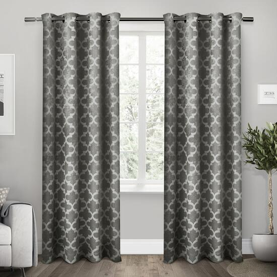 Exclusive Home Cartago Woven Blackout Curtains - 84in.