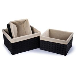 Truu Design Brown Woven Paper Storage Baskets - 3pc.