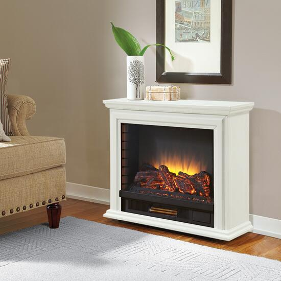 Pleasant Hearth Sheridan White Infrared Mobile Fireplace - 32in.