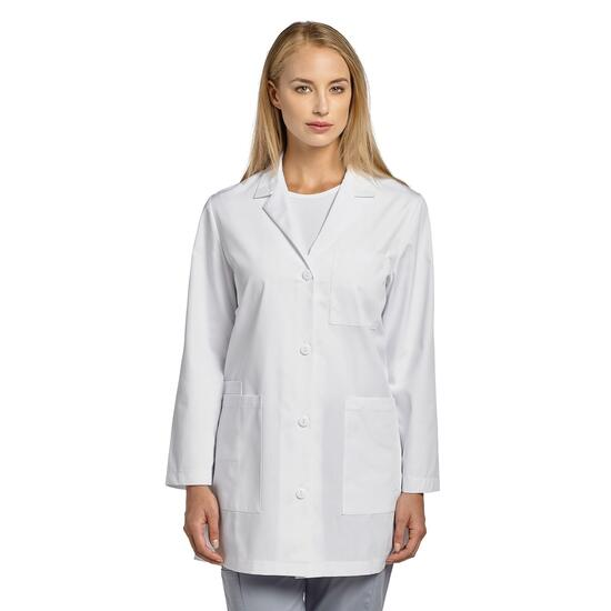 White Cross Women's Basic Button Front Lab Coat - XXS-XL