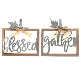 IH Casadecor Thanksgiving Signs - 2pc.
